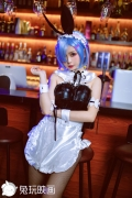 Cosplay Swimsuit Style Costume Rem Bunny Girl ReZero to Start Otherworldly Life006