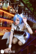 Cosplay Swimsuit Style Costume Rem Bunny Girl ReZero to Start Otherworldly Life040