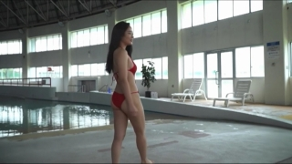 Aoshina Maki Swimsuit Bikini Gravure Miss Young Champion 2019 Grand Prix 064