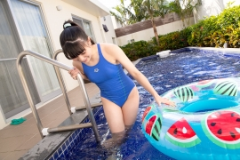Hinako Tamaki Swimming Race Swimsuit Images Pool Play Arena026
