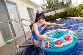 Hinako Tamaki Swimming Race Swimsuit Images Pool Play Arena027