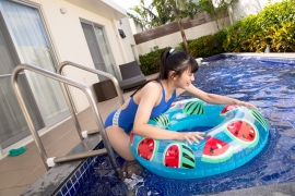 Hinako Tamaki Swimming Race Swimsuit Images Pool Play Arena028
