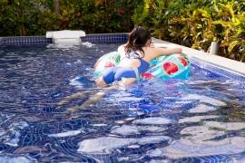 Hinako Tamaki Swimming Race Swimsuit Images Pool Play Arena034