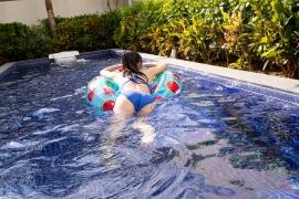 Hinako Tamaki Swimming Race Swimsuit Images Pool Play Arena032