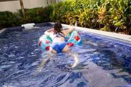 Hinako Tamaki Swimming Race Swimsuit Images Pool Play Arena031