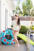Hinako Tamaki Poolside Pink White Bikini001