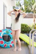 Hinako Tamaki Poolside Pink White Bikini003