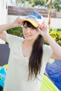 Hinako Tamaki Poolside Pink White Bikini007