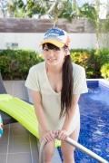 Hinako Tamaki Poolside Pink White Bikini008