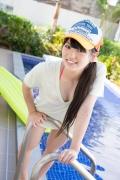Hinako Tamaki Poolside Pink White Bikini009
