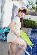 Hinako Tamaki Poolside Pink White Bikini011