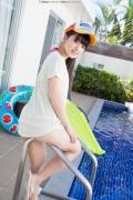 Hinako Tamaki Poolside Pink White Bikini010