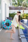 Hinako Tamaki Poolside Pink White Bikini013