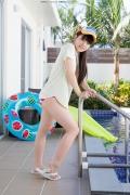 Hinako Tamaki Poolside Pink White Bikini014