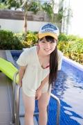 Hinako Tamaki Poolside Pink White Bikini016