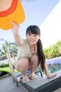 Hinako Tamaki Poolside Pink White Bikini019