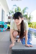 Hinako Tamaki Poolside Pink White Bikini022