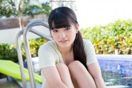 Hinako Tamaki Poolside Pink White Bikini024