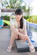Hinako Tamaki Poolside Pink White Bikini025