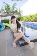Hinako Tamaki Poolside Pink White Bikini027