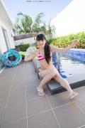 Hinako Tamaki Poolside Pink White Bikini030