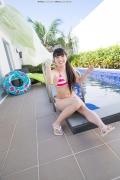 Hinako Tamaki Poolside Pink White Bikini031