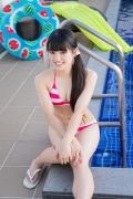 Hinako Tamaki Poolside Pink White Bikini037