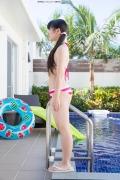 Hinako Tamaki Poolside Pink White Bikini040