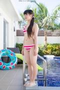 Hinako Tamaki Poolside Pink White Bikini039
