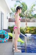 Hinako Tamaki Poolside Pink White Bikini044