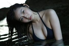 Black bikini Haropros beautiful girl Akari Uemura swimsuit gravure008