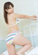 Colorful bikini Aie Ikeda swimsuit gravure image040