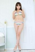 Colorful bikini Aie Ikeda swimsuit gravure image041