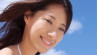Yuka Someya swimsuit gravure Beach green bikini running fast093