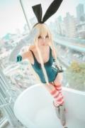 Cosplay Swimsuit Style Costume: Shimakaze Fleet Kore Kukushon021 (1)