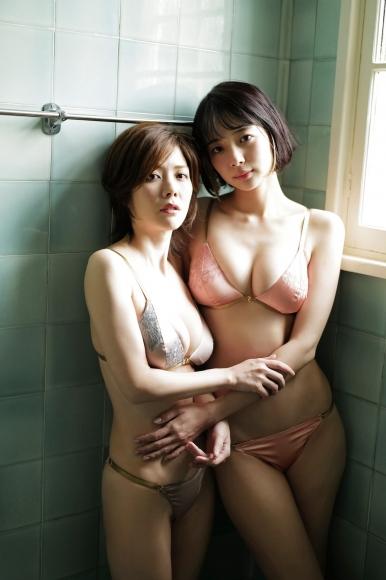Mari Takamiya Saka Okada swimsuit gravure Big tits too female mahjong017