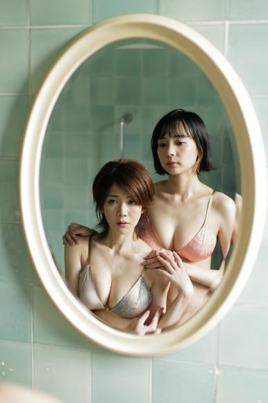 Mari Takamiya Saka Okada swimsuit gravure Big tits too female mahjong022
