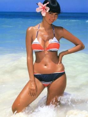 Agnes Lamb swimsuit gravure Sun lover004