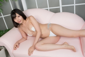 Chiaki Narumi Swimsuit Gravure Skimpy Maid White Bikini White Bikini032