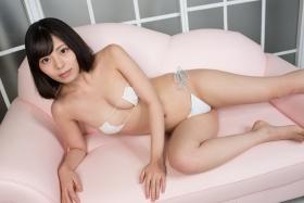 Chiaki Narumi Swimsuit Gravure Skimpy Maid White Bikini White Bikini033