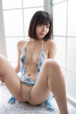 Chiaki Narumi Swimsuit Gravure Beige Bikini Bubble Bra020