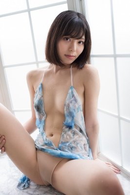 Chiaki Narumi Swimsuit Gravure Beige Bikini Bubble Bra022
