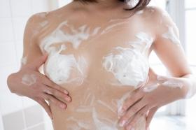 Chiaki Narumi Swimsuit Gravure Beige Bikini Bubble Bra026