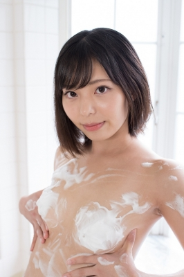 Chiaki Narumi Swimsuit Gravure Beige Bikini Bubble Bra027