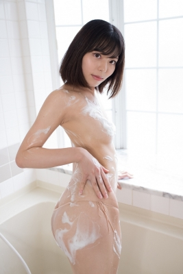 Chiaki Narumi Swimsuit Gravure Beige Bikini Bubble Bra028