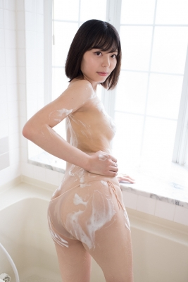 Chiaki Narumi Swimsuit Gravure Beige Bikini Bubble Bra029