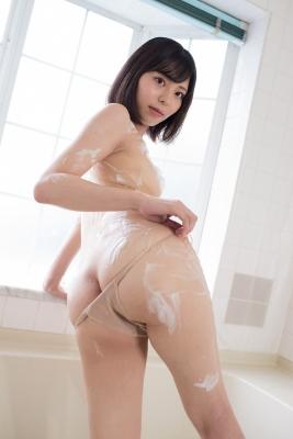 Chiaki Narumi Swimsuit Gravure Beige Bikini Bubble Bra031