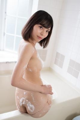 Chiaki Narumi Swimsuit Gravure Beige Bikini Bubble Bra034