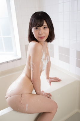 Chiaki Narumi Swimsuit Gravure Beige Bikini Bubble Bra036