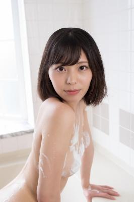 Chiaki Narumi Swimsuit Gravure Beige Bikini Bubble Bra037